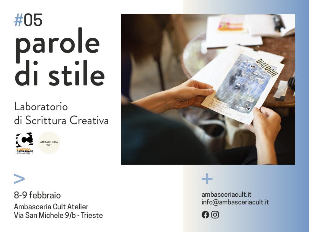 Laboratorio di scrittura creativa a trieste l'8 e 9 febbraio 2020
