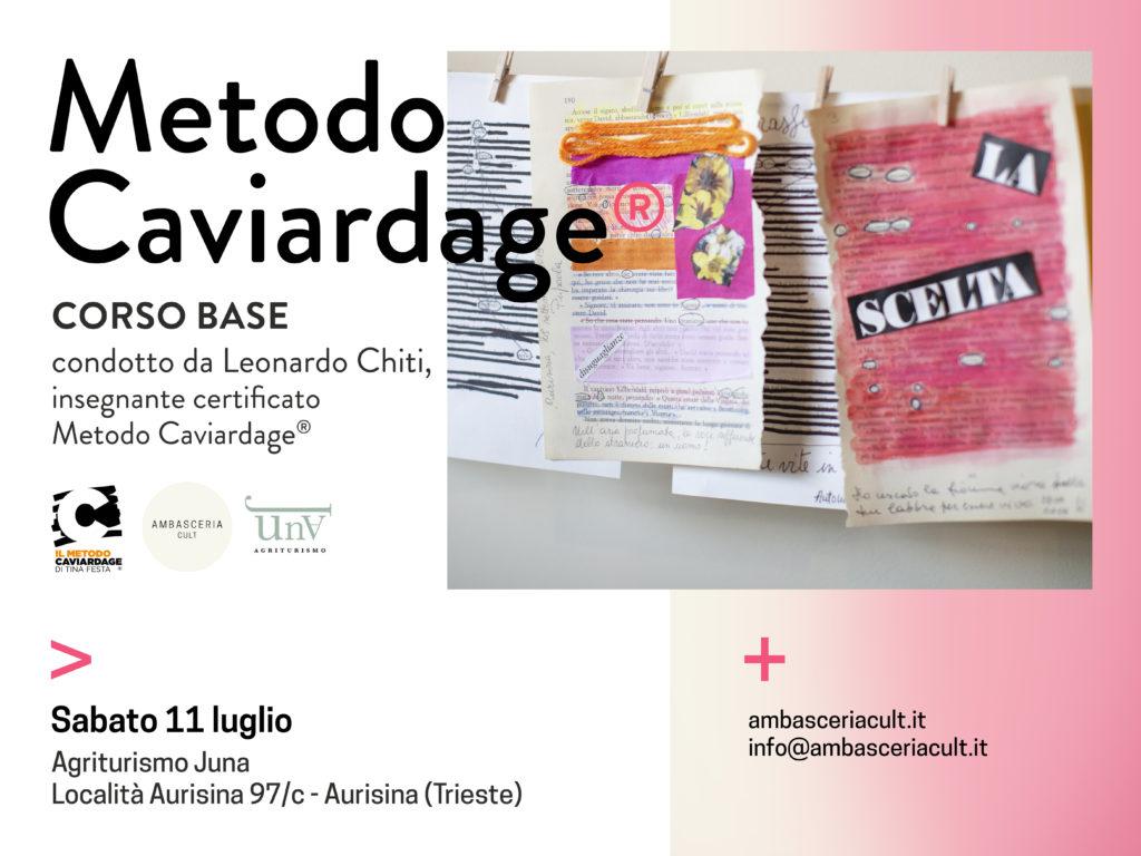 Poesia creativa durante il corso base del metodo caviardage sabato 11 luglio 2020 ad Aurisina Trieste