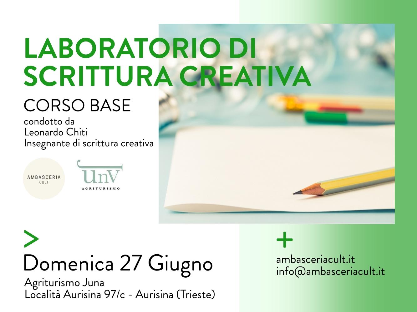 Laboratorio di scrittura creativa domenica 27 giugno 2021 a Trieste in Friuli-Venezia Giulia